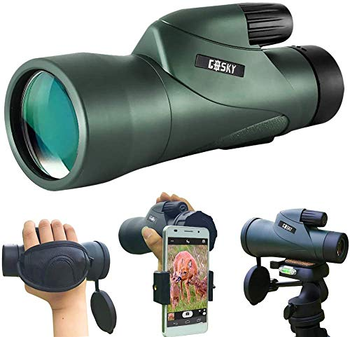 12x55 High Definition Monocular Telescope with Quick Smartphone Holder