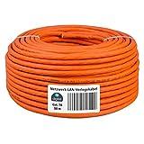 HB-DIGITAL 50 m Câble réseau LAN Cat.7A Cat.7A AWG 23/1 Orange Cable Cat 7...