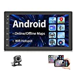 Double Din Android Car Stereo Radio with Bluetooth GPS 7 Inch HD Touchscreen in-Dash Headunit FM...
