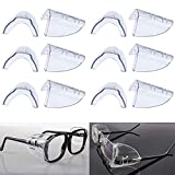 6 Pairs Eye Glasses Side Shields,Slip on Side Shields for Safety...