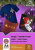 Raimarket Papier Transfert Pour Textile Noir Ou Foncã Tshirt, 10 Feuilles - Jet...