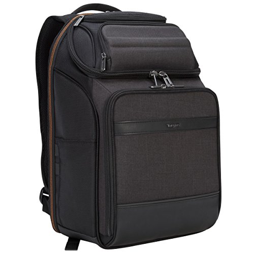 Targus CitySmart EVA Pro Travel Business Commuter and Checkpoint-Friendly Backpack with Multiple Pockets, Back Panel Support, Trolley Strap, Protective Sleeve for 15.6-Inch Laptop, Gray (TSB895)