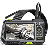 Dual Lens Endoscope with 5' Monitor, Teslong NTS500 Industrial Waterproof Borescope Inspection Camera with 0.21in Front & Side-View Double Lens with 9.8FT Probe, 5-Inch IPS LCD Screen & Case