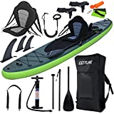 Goture 11'34'6' Double Layer Inflatable Stand Up Paddle Board(6in Thick) Fishing Paddle Board with Free SUP Accessories & Backpack,Waterproof Bag, Leash, Paddle and Hand Pump,3-Year Warranty