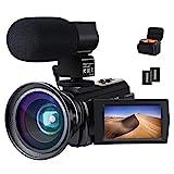 Caméra vidéo Caméscope 4K ACTITOP Full HD WiFi 48MP avec Vision Nocturne...