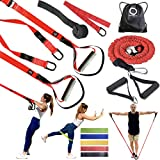 OPG Bodyweight Resistance Training Bundle 3 in 1 | Home Suspension Trainer Straps with Door Anchor |...