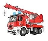 BRUDER - 03675 - Camion Pompier Mercedes Benz Arocs avec module son et...