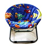 AteAte Comfortable Kids Folding Moon Chair for Indoor and Outdoor Cute Bottom Fish Design for Children/Toddler/Pets 19' Saucer Chair (Bottom Fish)
