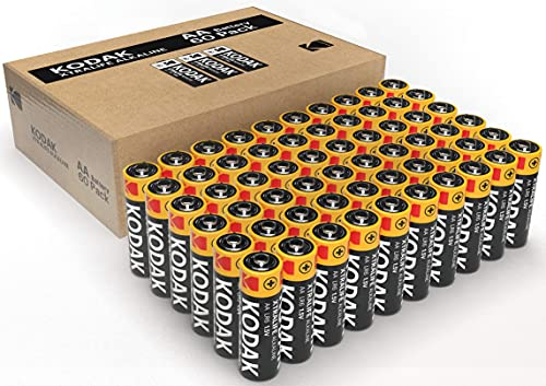 Kodak Aa Batteries - Alkaline Batteries 1.5V Mignon Lr06 Mn1500 Am3 Battery Pack [60 Cell Count]