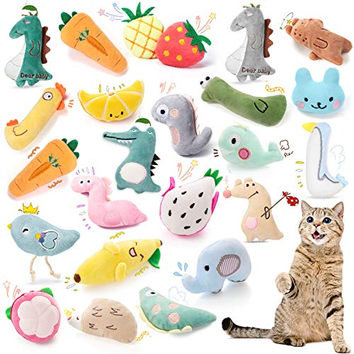 24-Pieces-Catnip-Toys-Interactive-Plush-Cat-Toy-Cute-Catnip-Kitten-Toys-Fruits-and-Animals-Styles-Cat-Soft-Entertaining-Toys-for-Cat-Kitten-Playing-Chewing-Biting-Teeth-Cleaning