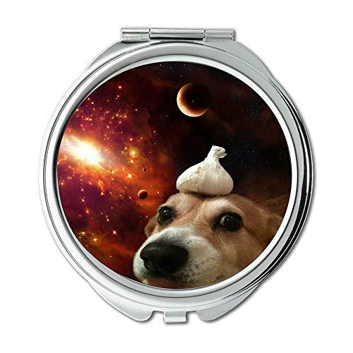 Specchio, Specchio compatto, cane Vodafone Alaska Malamute Dog, specchio tascabile, 1 ingrandimento...