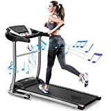 Merax Electric Folding Treadmill Samll Treadmill Motorized Running and Jogging Machine with Speakers for Home Use, 12 Preset Work Out Programs