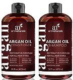 ArtNaturals Champú Orgánico Marroquí Champú y Acondicionador de Aceite de Argan (2 x 16 Oz) -...
