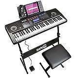 Rockjam 61 Kit Clavier Piano 61 Écouteurs Clés Stand Clavier Banc de...
