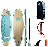 """Boardworks SHUBU Flow All-Water Yoga Inflatable Stand-Up Paddle Board (iSUP) 