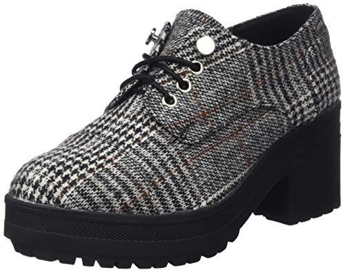 MTNG Collection 57408, Zapatos de Cordones Oxford para Mujer, Negro (Poule Blanco/Negro C42791), 37 EU
