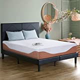 PrimaSleep 12 Inch Multi-Layered I-Gel Infused Memory Foam Mattress, Cal King, White and Brown