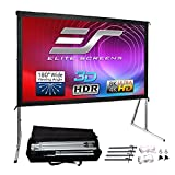 Elite Screens Yard Master 2, 100-inch Outdoor Indoor Projector Screen 16:9, Fast Easy Snap On Set-up Freestanding Portable Movie Foldable Front Projection | OMS100H2 - US Based Company 2-YEAR WARRANTY
