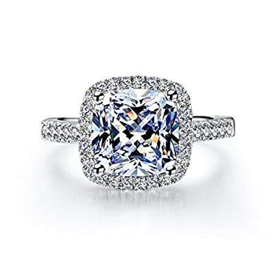 TenFit Jewelry is a US registered trademark and Tenfit is the only owner for this brand.we produce fashion styles and good quality jewelry always. 3 Carat Simulated Diamond for Wedding and Engagement.VVS1 Clarity D-E color diamond Platinum plated wit...