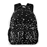 Herramientas antigravedad – mochila causal gris y negro mochila vintage universidad mochilas multiusos portátil mochila para escuela, negocios, trabajo, hombres y mujeres