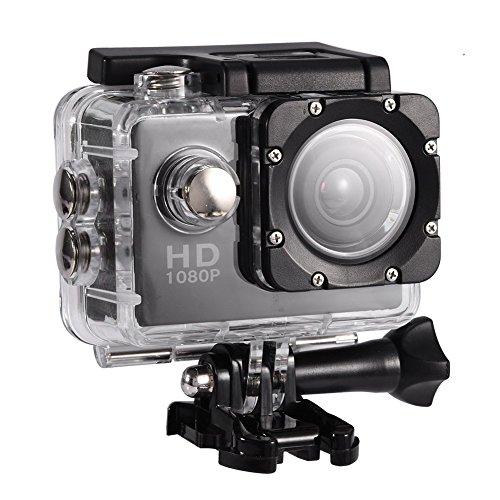 Telecamera per lo sport Full HD 2.0 Fotocamera 1080P 12MP Fotocamera per lo sport Videocamera subacquea 30m / 98ft Fotocamera impermeabile e kit di accessori di montaggio Diving Bike Alpinismo Nuoto-b