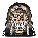 Yuanmeiju Drawstring Bag Sport Gym Party Gift Backpacks Storage Goodie Porco Rosso A Pig