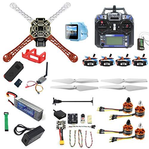 FEICHAO Kit fai-da-te RC Drone F450-V2 FPV Quadcopter con controller FS I6 MINI PIX MINI GPS Q6 4K Telecamera ad azione grandangolare FPV Watch / FPV Maschere Set completo di droni (FPV Watch version)