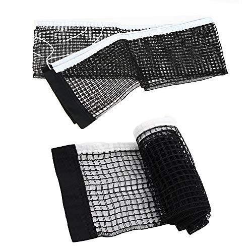 Guanici Tisch Tennis Netz Tischtennis-Netzgarnitur Tischtennis Ersatznetz Polyester Ping Pong Netz Wird verwendet um ein kaputtes Tischtennisnetz zu ersetzen,Wasserdicht und Haltbares 2 Stück(schwarz)