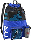 TYR Big Mesh Mummy Backpack for Wet Swimming, Gym, and Workout Gear