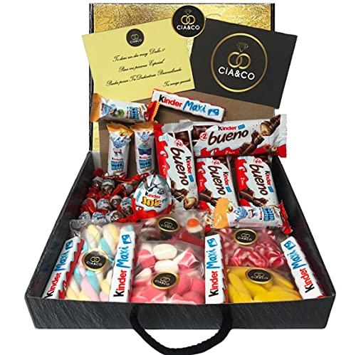 Lote para Regalo +25 Chocolates Kinder y 450 grs de Chuches,