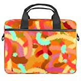 Microbial Strip Laptop Case Canvas Pattern Maletín Manga Portátil Bolso de mensajero para 13.3-14.5 pulgadas MacBook Laptop Maletín