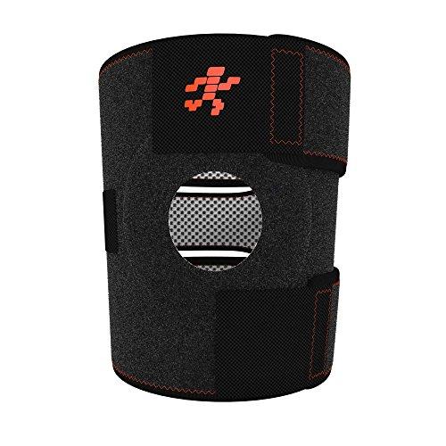 Uflex Knee Brace & Support Open Patella, One Size Adjustable, Neoprene Sports Compression, Joint Pain, Arthritis, ACL Tear, Meniscus Tear, Tendonitis