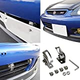 iJDMTOY Universal Fit JDM Slanted Tilt Front/Rear Bumper License Plate Relocator Bracket Holder w/Adjustable Angle/Degree