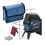 Bosch Professional laser ligne en croix GCL 2-15 (laser rouge, pour...