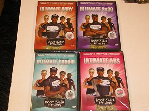 Jay Johnson's Boot Camp Fitness Workout Video Set of Four (4) 1