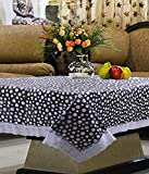 Kuber Industries Center Table Cover Transparent Printed 40*60 Inches (White)