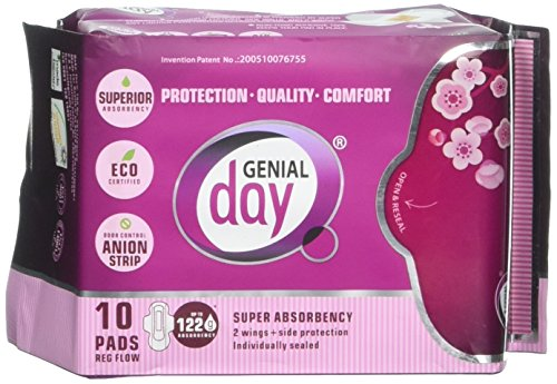 GENIAL DAY Super Absorbent Regular Flow Pads