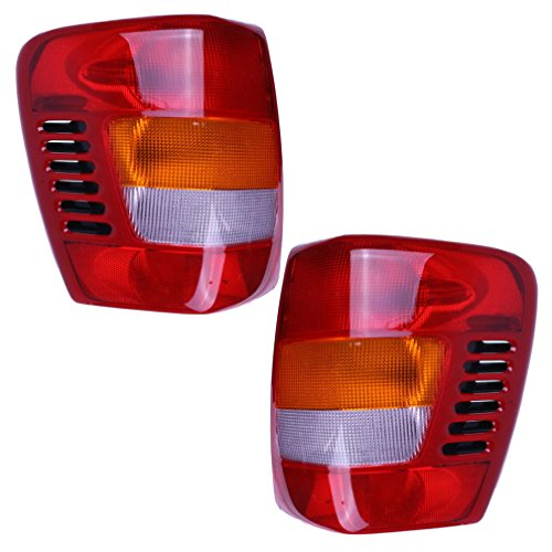 Aftermarket Taillights Tail Lamps with Circuit Boards Driver and Passenger Replacements for 99-02 Jeep Grand Cherokee 5101897AB 5101896AB