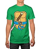 TMNT Teenage Mutant Ninja Turtles Mens Leonardo Costume T-Shirt L