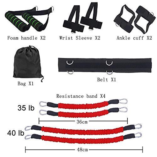 SHYSBV Set di Fasce di Resistenza per Fitness Sportivo per Esercizi per Gambe E Braccia Boxe Muay...