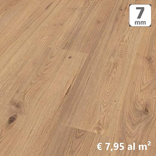 Pavimento in Laminato Kronotex a Incastro, Scatola da 2,390 m/AC3, Spessore 7mm. Rovere Millennium