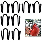 YYST Fence Helmet Gloves Hanger Holder Dugout Organizer - Organize Your Helmets and Gloves Off The Ground - Softball & Baseball Sports Equipment Caddy - No Helmet (8)