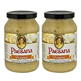Paesana Francese Gourmet Cooking Sauce - Simmer Sauce made with White Wine – Great with Chicken or Veal, Fish. Kosher Dairy. 15.75 oz. Jar - Packed in USA (2 Pack)