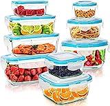 KICHLY Recipientes de cristal para alimentos - 18 pieza (9...