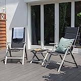 Vanage gepolsterter Gartenstuhl in schwarz – Klappstuhl im 2er Set für Garten, Terrasse und Balkon geeignet - 10