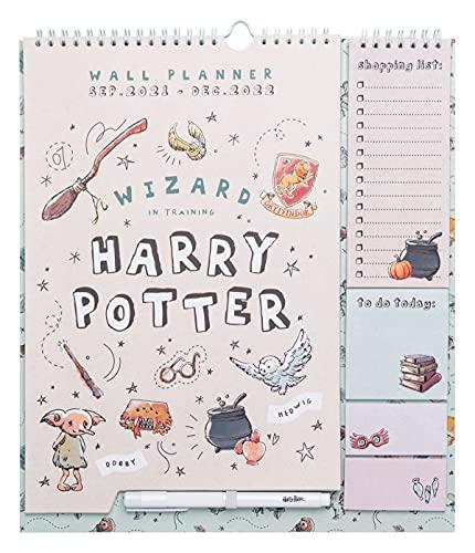 Calendario de pared Harry Potter - Planificador mensual - Planificador Grupo Erik │Calendario agenda de pared 16 meses - Planner ideal para la vuelta al cole - Calendario familiar - Licencia oficial