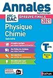 Annales BAC 2021 Physique Chimie Terminale