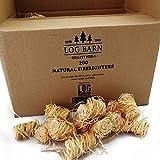 Encendedores de madera natural ecológica – 200 encendedores de llama de lana de madera por caja....