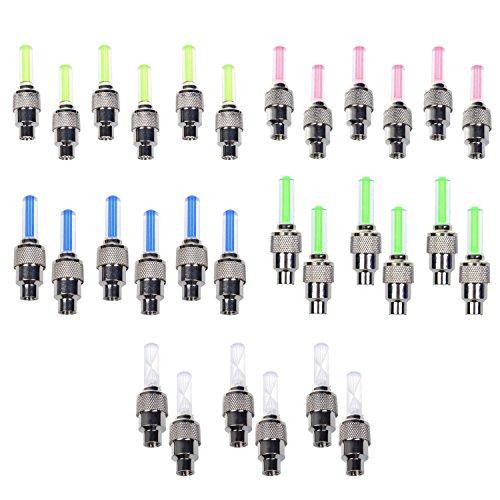 Stonges - confezione da 30luci LED, per ruote, tappini, biciclette (rosso, giallo, blu, verde,...