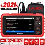 LAUNCH OBD2 Scanner CRP129X, 2021 New Scan Tool for ABS SRS Transmission Check Engine Code Reader, Oil/EPB/SAS/TPMS Reset Throttle Matching Diagnostic Scanner Android 7.0 AutoVIN Lifetime Free Update
